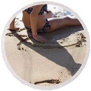 Childhood Round Beach Towel