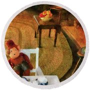 Children - Toys - The Tea Party Round Beach Towel by Mike Savad