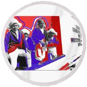 Children Dressed As Founding Fathers 2   Bi-centennial Of The Constitution Tucson Arizona Round Beach Towel