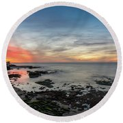 Children's Pool At La Jolla Cove  Round Beach Towel