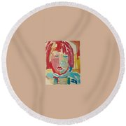 Childrens Portrait Round Beach Towel