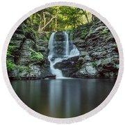 Child's Park Waterfall 2 Round Beach Towel