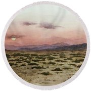 Chile Desert Round Beach Towel