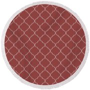 Chili Oil Quatrefoil Round Beach Towel