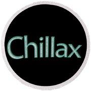 Chillax Tee Round Beach Towel