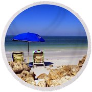 Chillin' Out Round Beach Towel