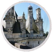 Chimney From Chambord - Loire Round Beach Towel