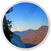 Chimney Rock  2 Round Beach Towel