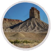 Chimney Rock Towaoc Colorado Round Beach Towel