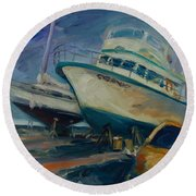 China Basin Round Beach Towel