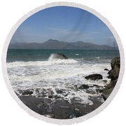 China Beach  Round Beach Towel