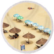 China Beach Da Nang Round Beach Towel