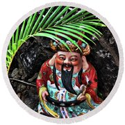 China Boat Gnome Round Beach Towel