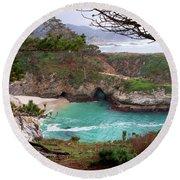 China Cove At Point Lobos Round Beach Towel