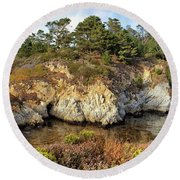 China Cove, Point Lobos Round Beach Towel by Yair Karelic