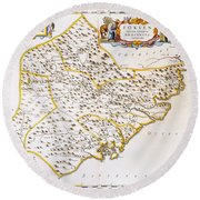 China: Fujian Map, 1662 Round Beach Towel