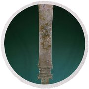 China: Jade Blade Round Beach Towel