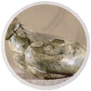 China: Neolithic Sculpture Round Beach Towel