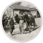China: Peking, 1901 Round Beach Towel