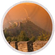 China, The Great Wall Round Beach Towel