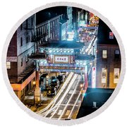Chinatown Gates Round Beach Towel