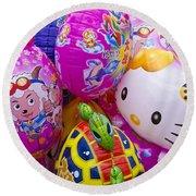 Chinese Balloons Round Beach Towel