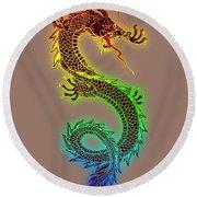 Chinese Dragon Round Beach Towel