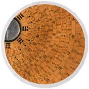 Chinese Geomantic Compass And Perpetual Round Beach Towel
