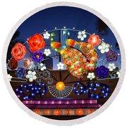 Chinese Lantern Festival Round Beach Towel