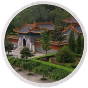 Chinese Palace Round Beach Towel