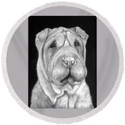 Chinese Sharpei Round Beach Towel
