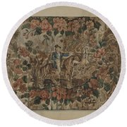 Chintz Square Round Beach Towel