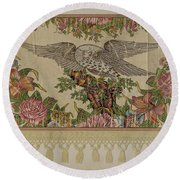 Chintz Valance For Poster Bed Round Beach Towel