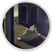 Chirico: Melancolie, 1914 Round Beach Towel