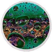 Chloroplasts Round Beach Towel