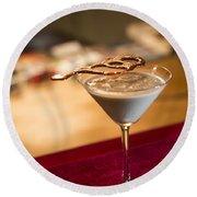 Chocolate And Cream Martini Cocktail Round Beach Towel