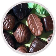 Chocolate Candy Round Beach Towel