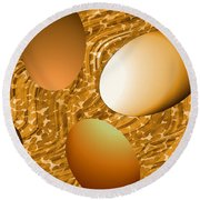 Chocolate Eggs Round Beach Towel