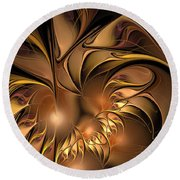 Chocolate Essence Round Beach Towel