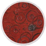 Choices In Red Round Beach Towel