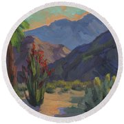 Cholla At Smoketree Ranch Round Beach Towel