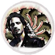 Chris Cornell Round Beach Towel