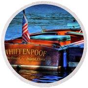 1958 Chris Craft Utility Boat Round Beach Towel