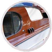 Chris Craft Enclosed Cruiser Round Beach Towel