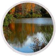 Chris Greene Lake - Reflections Round Beach Towel