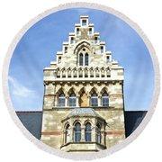 Christ Church College Oxford Architecture Round Beach Towel