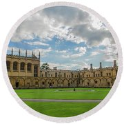 Christ Church Tom Quad Round Beach Towel