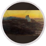 Christ In The Wilderness Round Beach Towel