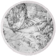 Christ On The Mount Of Olives 1524 Round Beach Towel