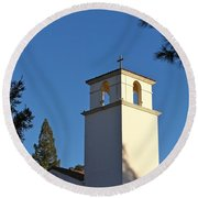 Christ The King Chapel Tower Round Beach Towel
